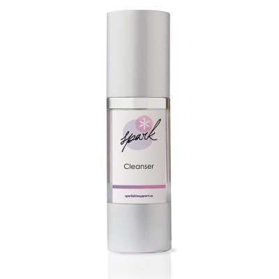 Travel size skin cleanser with Vitamin A