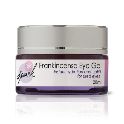 eye gel with frankincense essential oil and coffee extract