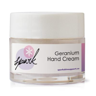 Travel size hand cream with Geranium Essential oil